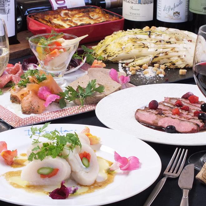 スタンダード女子会プラン 豊富なドリンク+スパークリングワインも!2h飲み放題 料理全9品 3,500円(税込)